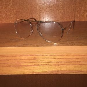 Vintage style, clear glasses